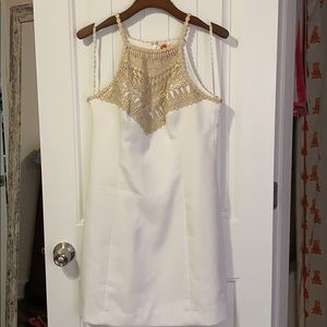Lilly Pulitzer Pearl Shift Dress white size 8